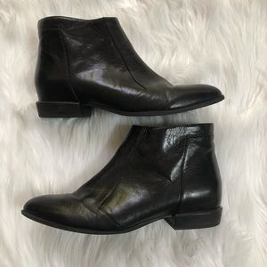 Nine West Dopler Black Booties Boots Size 10.5